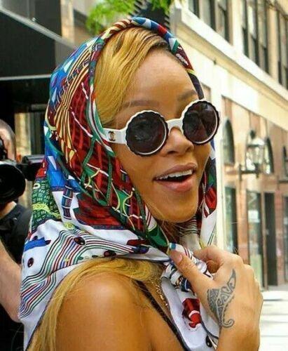 Full Set Mint Rare Vintage CHANEL Black White Round Camelia Sunglasses Rihanna