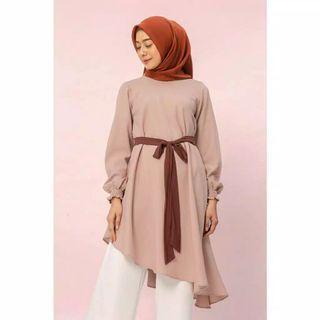 HijabChic Fidelya Thai Tea Tunic Tunik (Vanilla Hijab, Wearing Klamby, Heaven Light, Hijab Princess, Askalabel, Berrybenka)