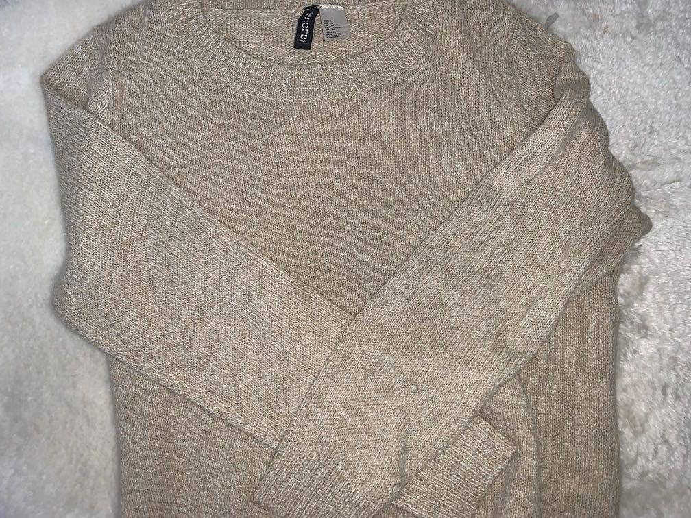 h&m oatmeal sweater