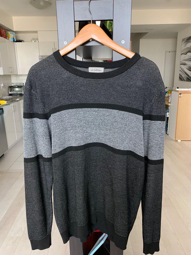 Le Chateau Black & Grey Sweater XL but fits L