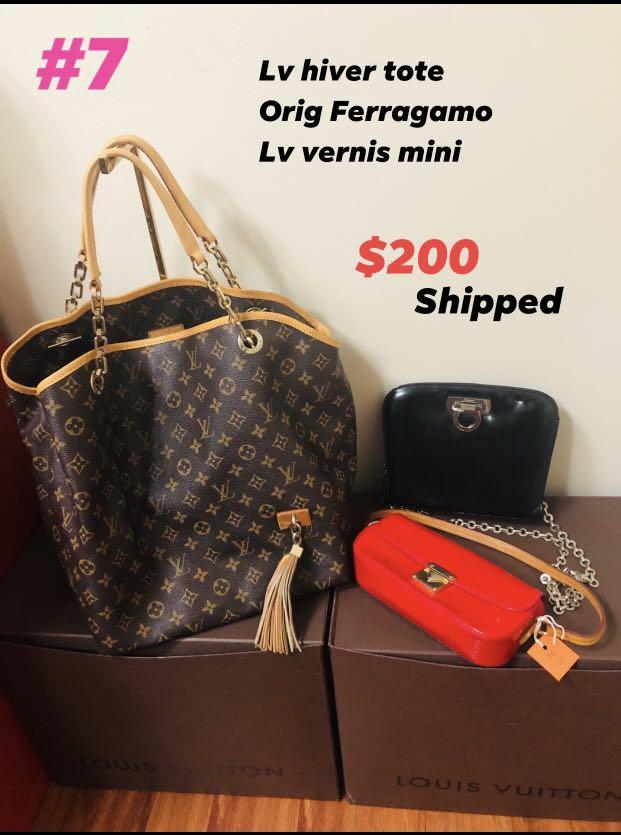 Lv set and Ferragamo