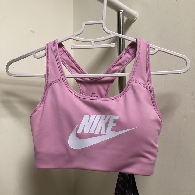 NIKE中強度運動內衣 胸墊可拆 粉色 S號 全新含吊牌