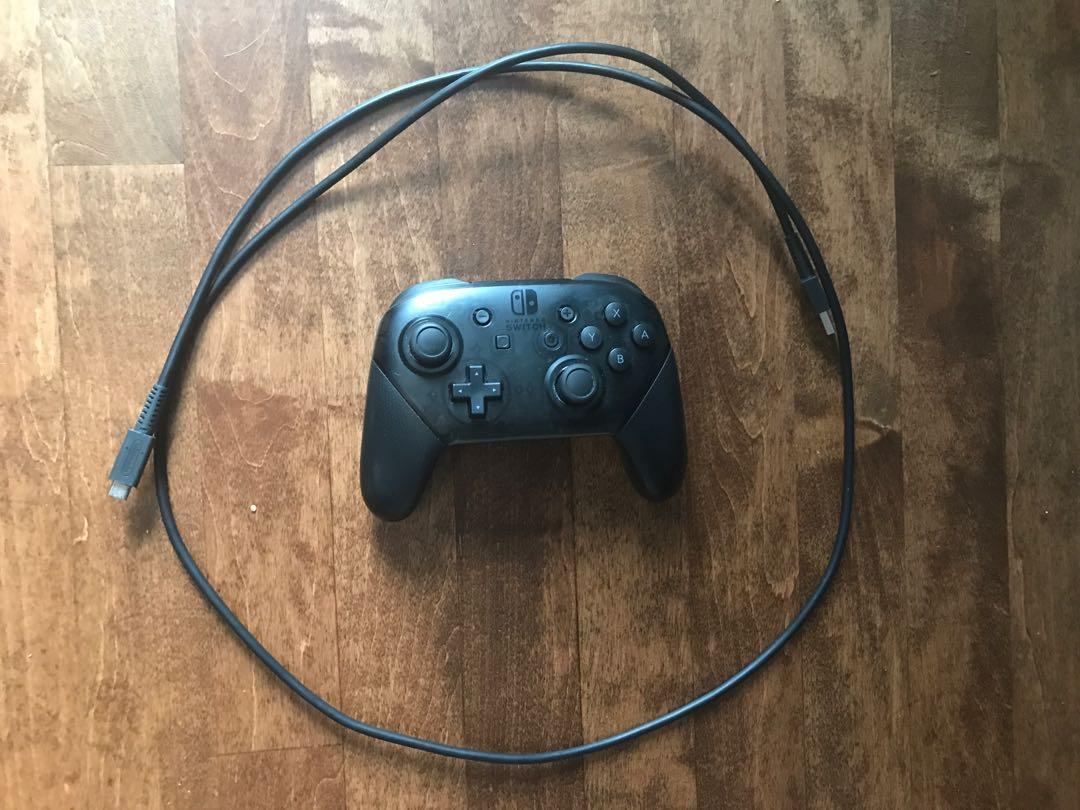 Nintendo switch pro controller and charging cable