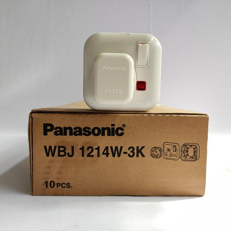 Panasonic Stop AC Set Socket Outlet 1 Gang - WBBJ1214W3K
