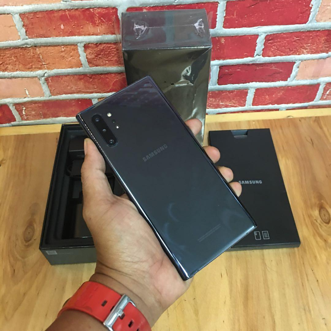 Samaung note 10+ 12/128gb black super mulus