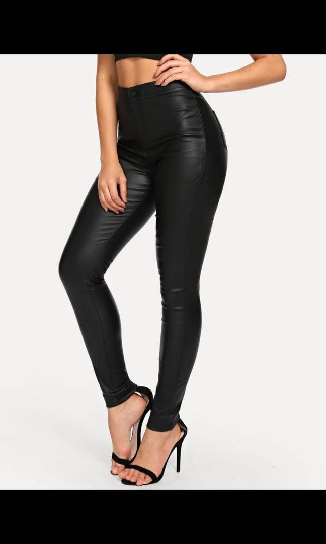 Shein faux leather pant