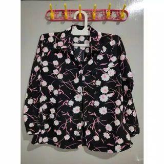 #Special1010 Kemeja/Blouse Motif Wanita/Cewek Lengan Panjang Kuliah/Kantor Korean Style