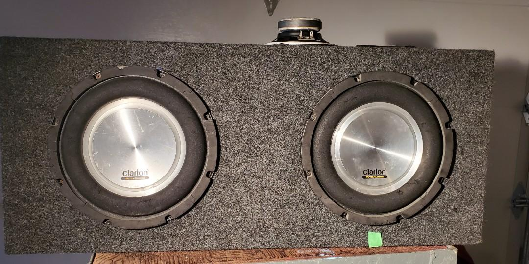 Subwoofer 10 inches×2  500watts each
