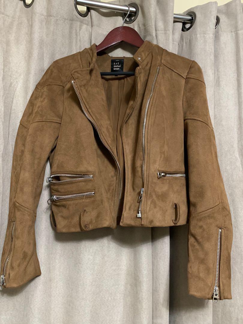 Zara suede jacket (large)