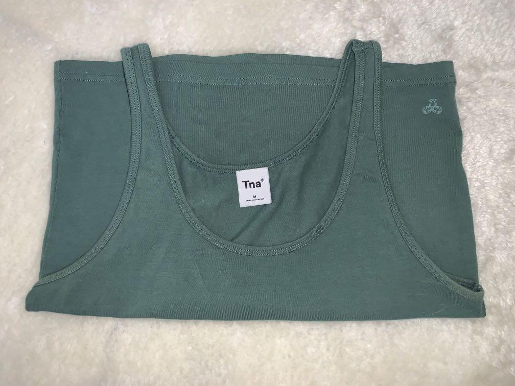 tna green tank top size M