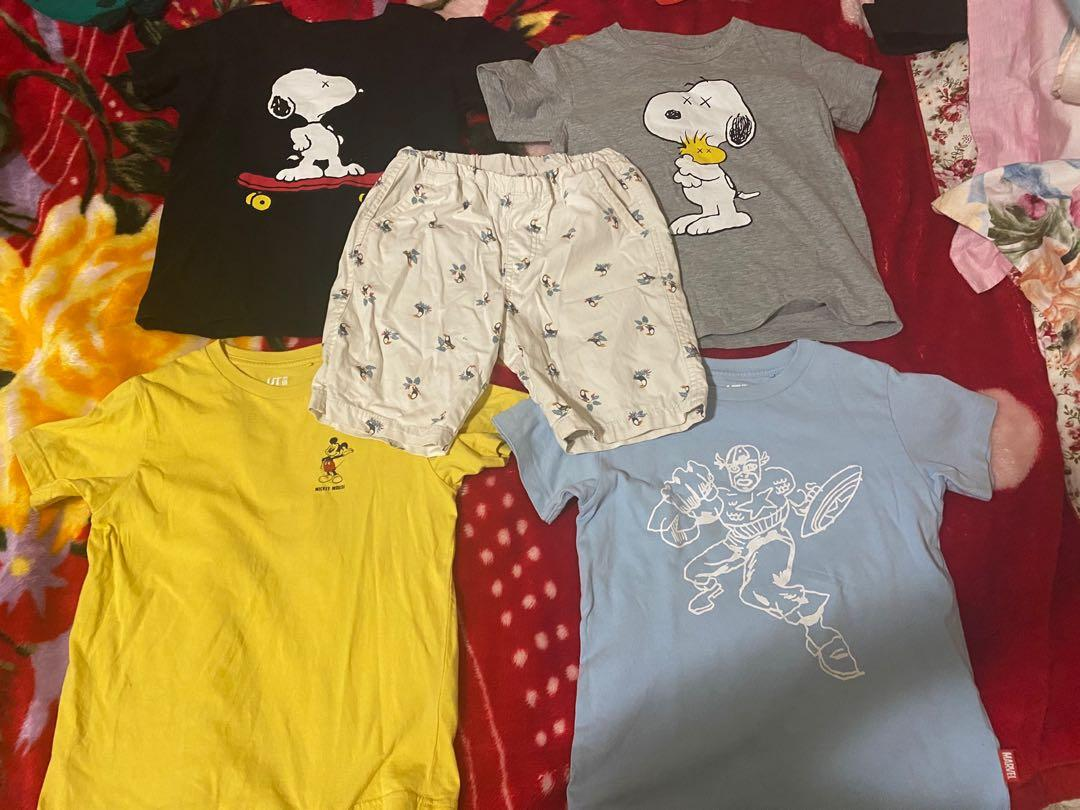 Uniqlo boys top and shorts