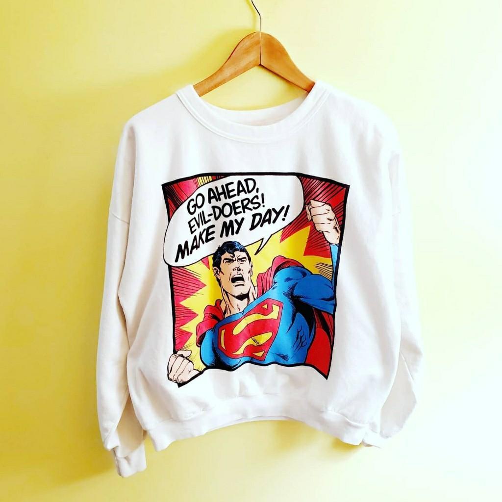 Vintage Rare 1987 DC Comics Superman Sweater