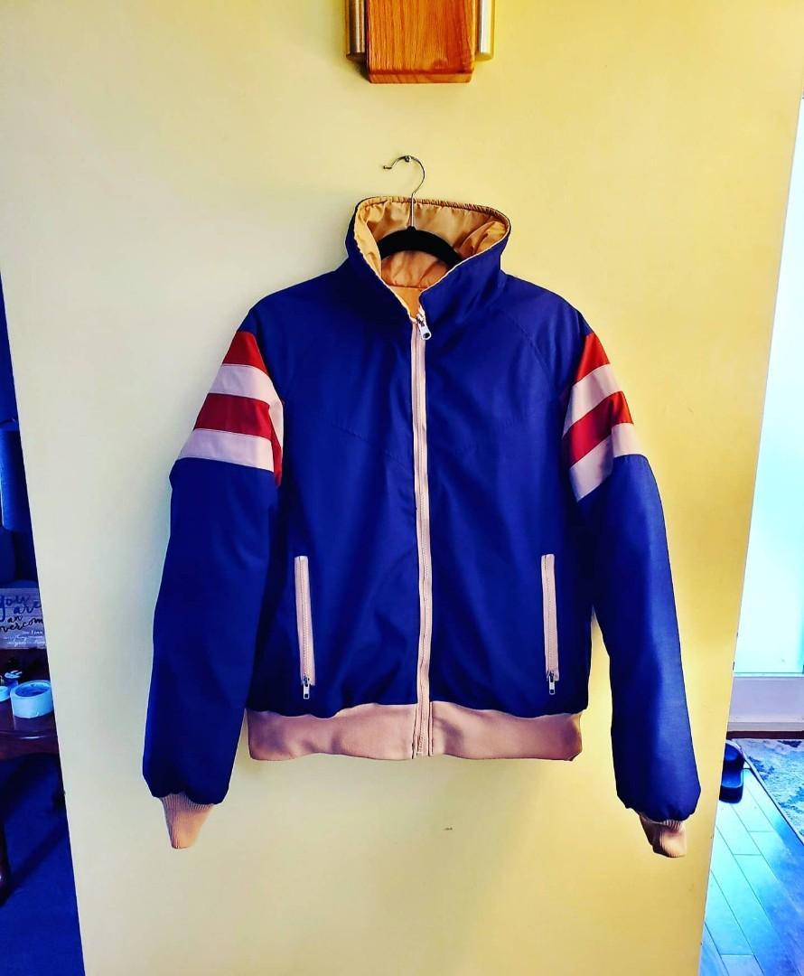 Vintage Rare 70's Alpine Designs Down Filled Reversible Winter Jacket