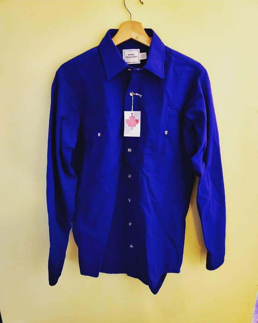 Vintage Rare 70's Deadstock Sears Wearmaster Button Up Shirt
