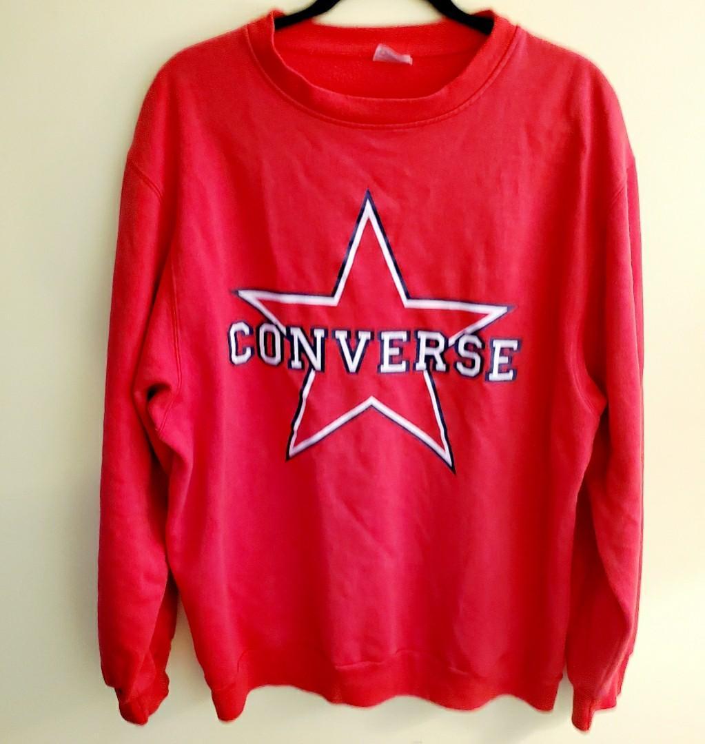 Vintage Rare 80's Converse Star Sweater