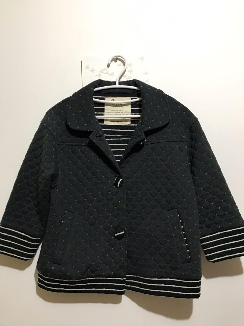 Young 日系專櫃品牌 鋪棉保暖短外套 M-L