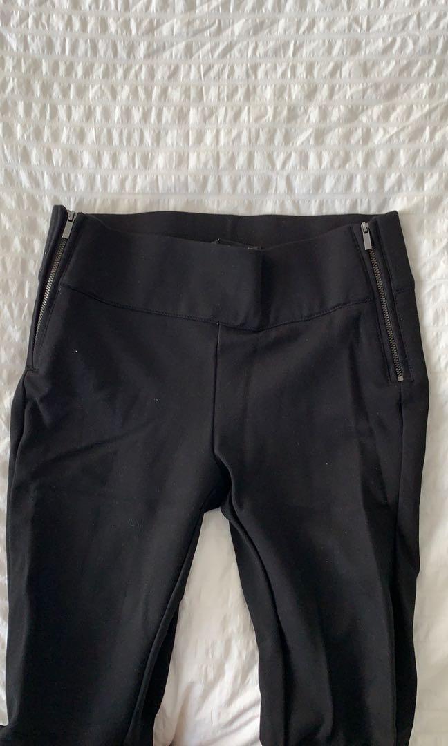 Zara zippered leggings