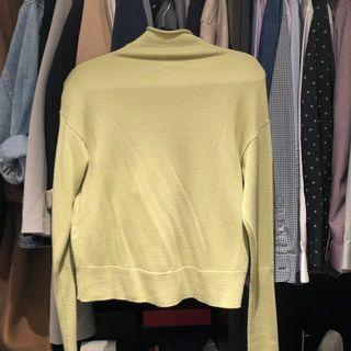 Aritzia Wilfred cyprie mock neck knit turtleneck lime green size XSMALL
