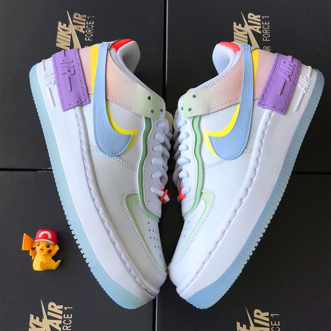AUTHENTIC] Nike Air Force 1 shadow macaron multicolour pastel ...