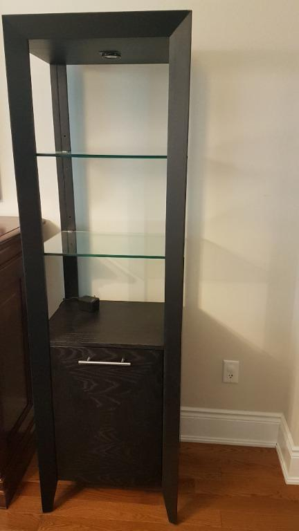 Black glass shelf
