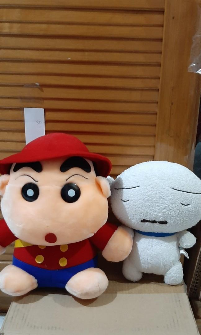 Boneka sinchan dan shiro ori,