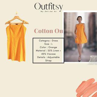 Cotton On Dress Orange