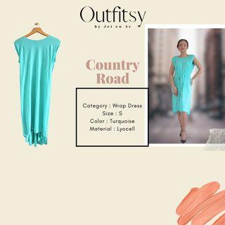Country Road Wrap Dress Turquoise