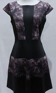 Dress hitam tye dye ungu
