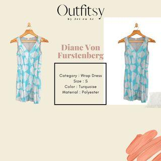 DVF Wrap Dress Turquoise