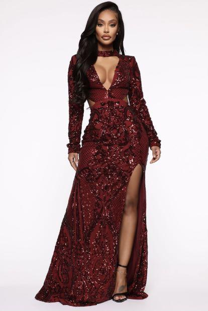 Fashion Nova- Strong Enough Sequin Maxi Dress