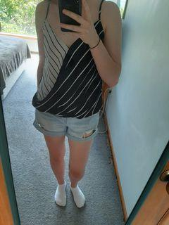 Glassons Black and White Stripped Top