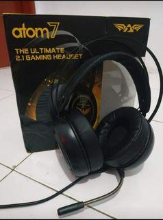 Headphones Headset Armageddon Atom 7