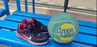 Nike airmax premium & bola basket greensand