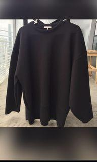 Oak and Fort Black Oversized Sweater