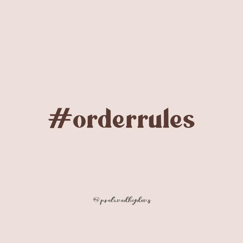 Order Rules