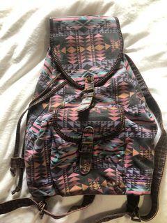 Printed Indie Art Beach Bag Back Pack