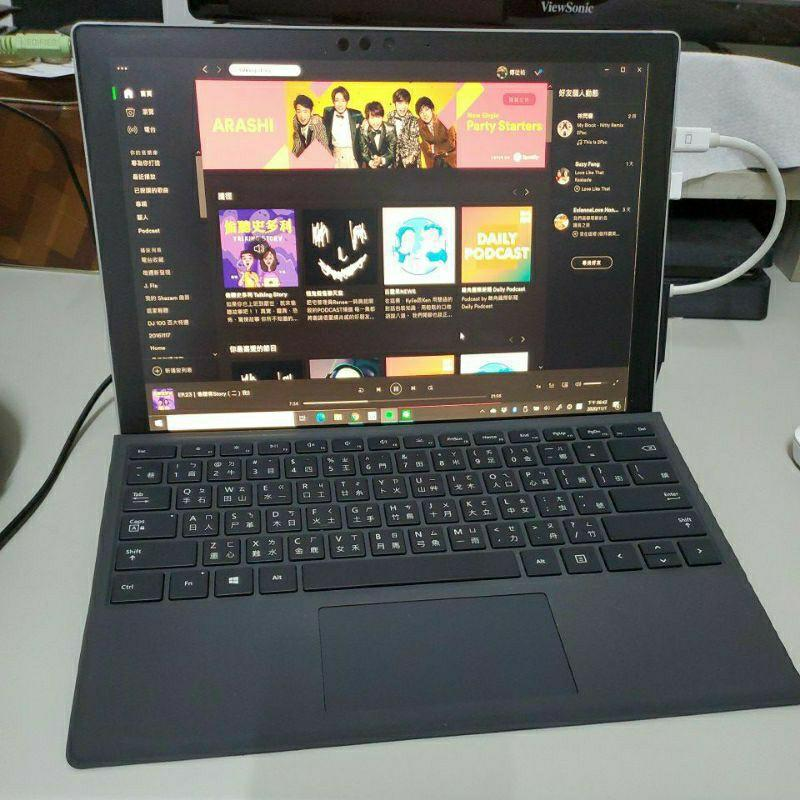 Surface pro 6 (i5-8250U/128G/8G)附鍵盤