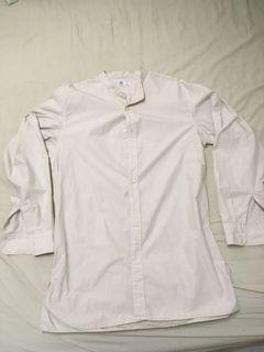 Uniqlo UU u系列 立領 寬版襯衫 L號