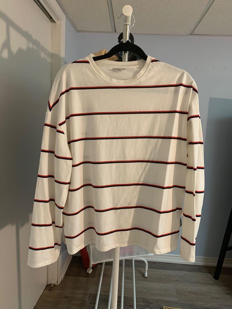 White striped long sleeve shirt