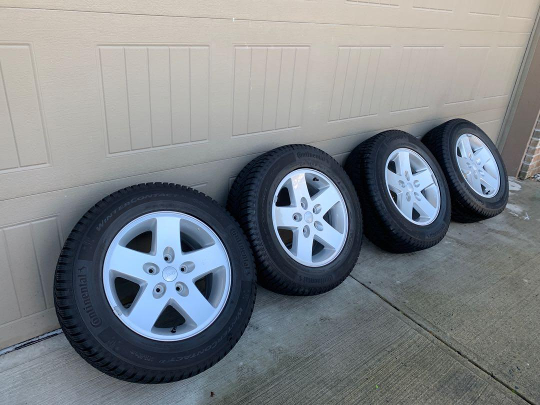 Winter Tires with Wheels For a Jeep/Chrysler