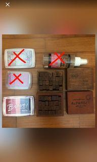 WOODEN STAMPS INK PAD