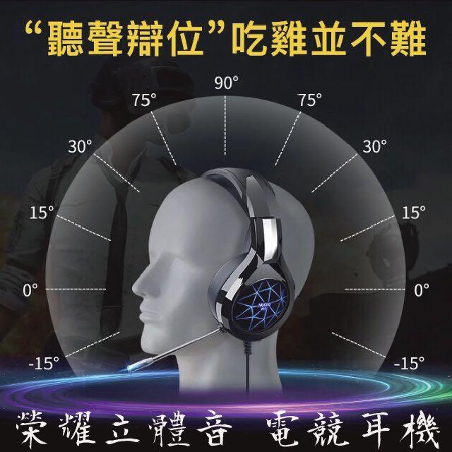 [榮耀再現 半價特惠]遠近腳步聲 聽音辨位  戰場指揮官 7.1聲道立體環繞電競耳機