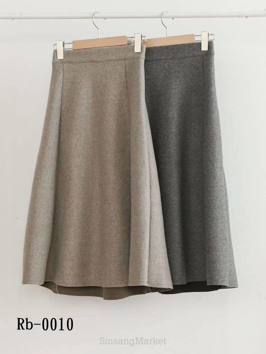 正韓(韓國空運回台) 高單 – 超美輕熟齡必收 後鬆緊毛呢傘裙(Rb-0010)
