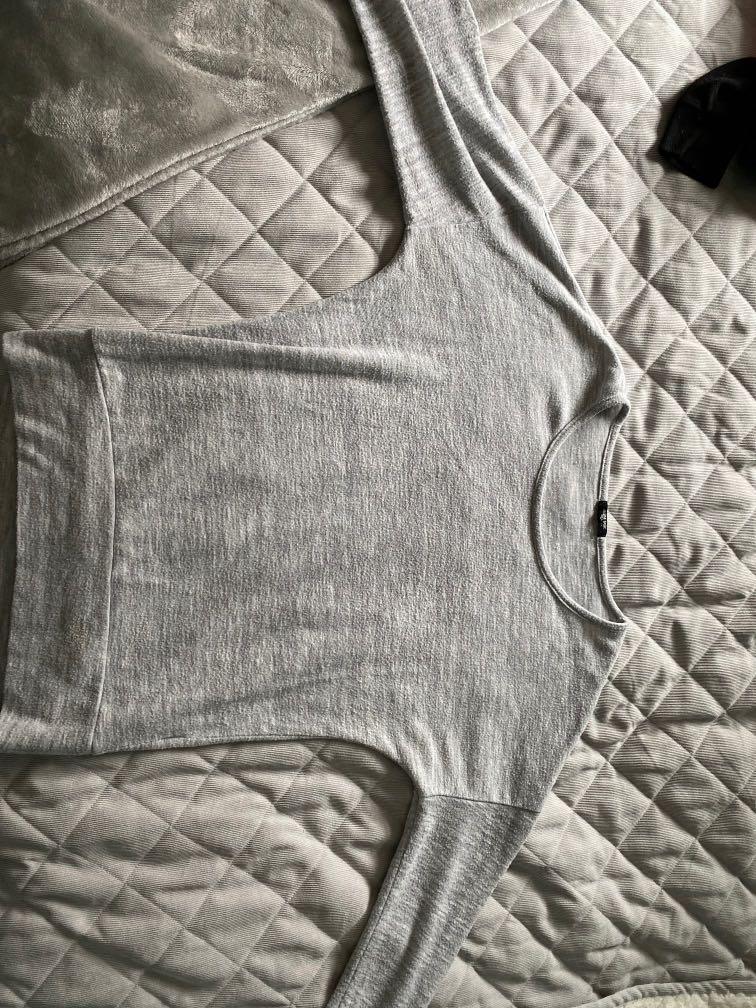 Ardene grey long sleeve shirt