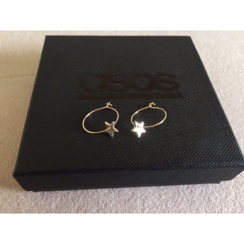 英國ASOS購入:Orelia 金色星星圓圈針式耳環//非niko and/這件飾this thing/1014