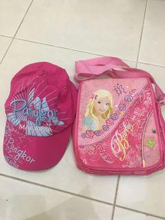 Barbie side sling Bag & Cap