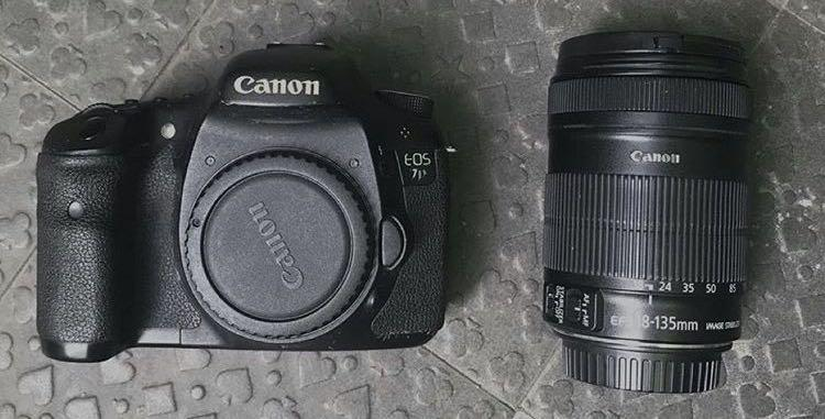 Canon 7d with lens kit 18-135
