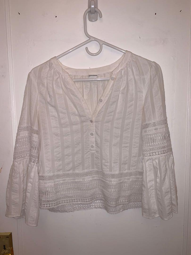 club monaco - white flowy blouse