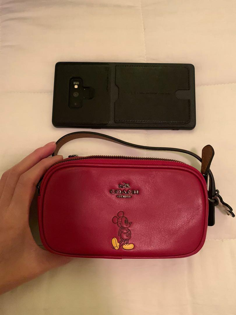 Coach x Mickey Mouse mini crossbody bag in red
