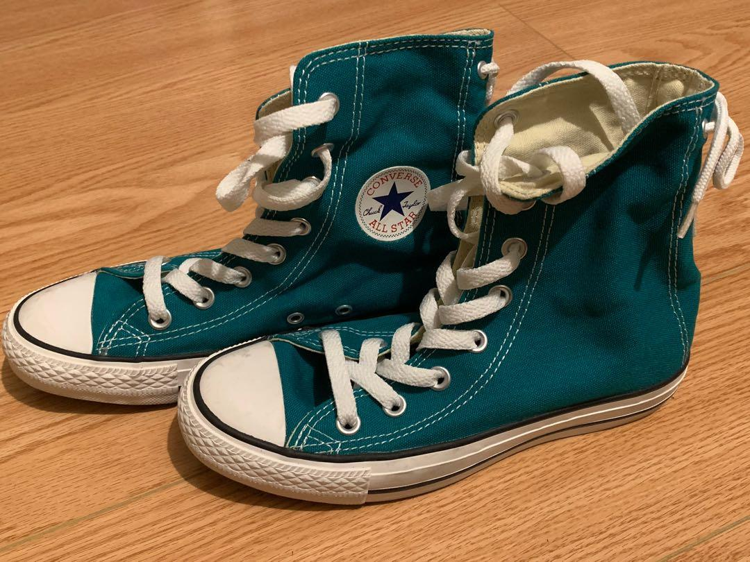 Converse - Green Lace Up High Tops